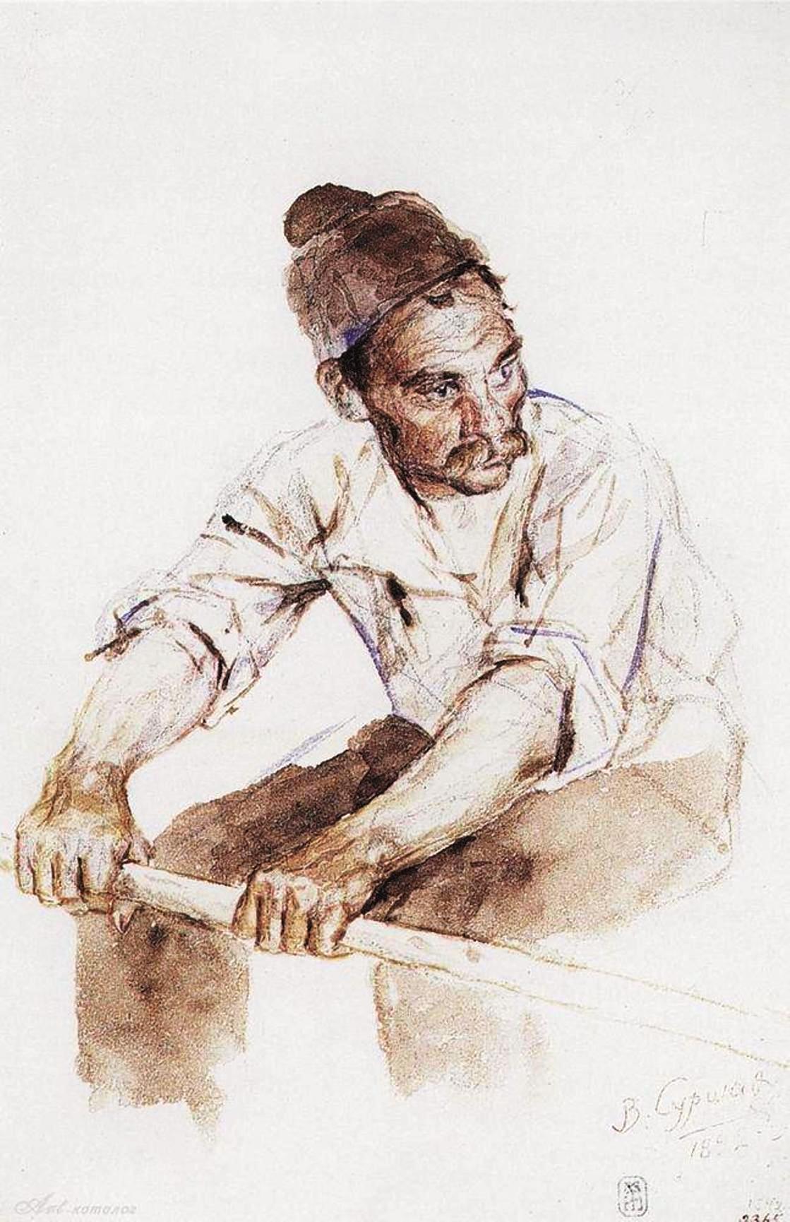Василий Иванович Суриков  Казак-гребец. 1892.