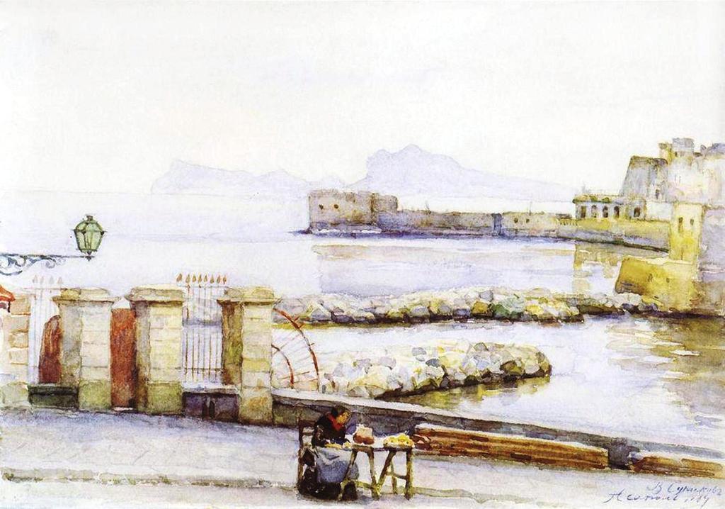 Василий Иванович Суриков – Неаполь. Набережная. 1884.