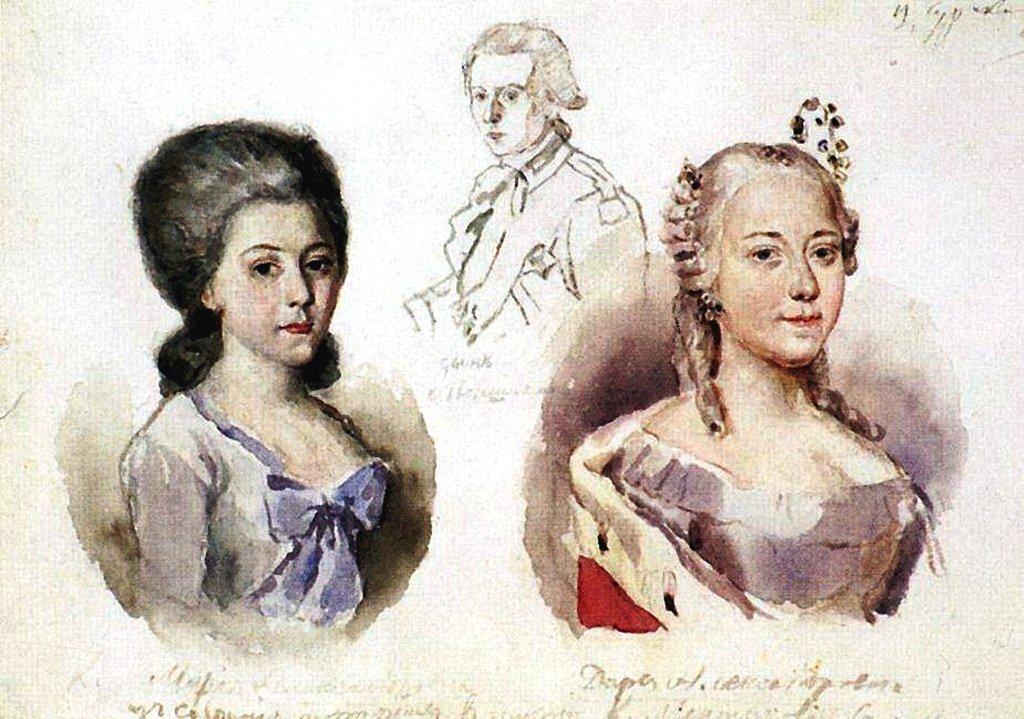 Василий Иванович Суриков – Портреты Меншиковых. 1882.