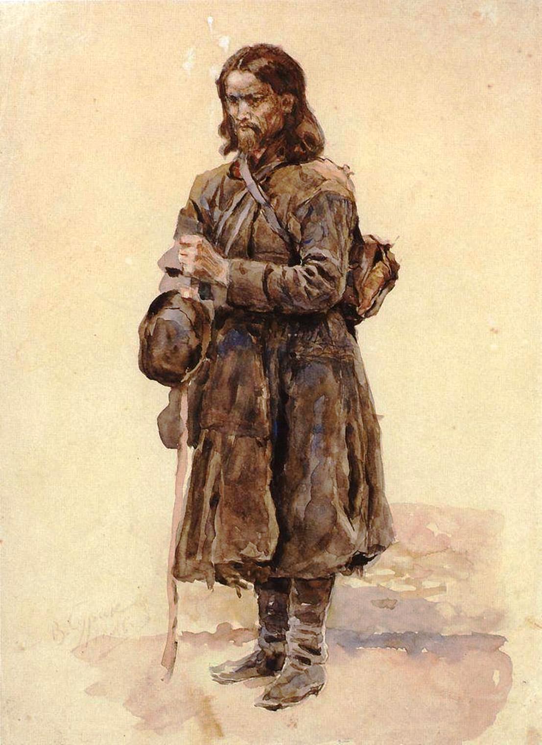 Василий Иванович Суриков – Странник. 1886.