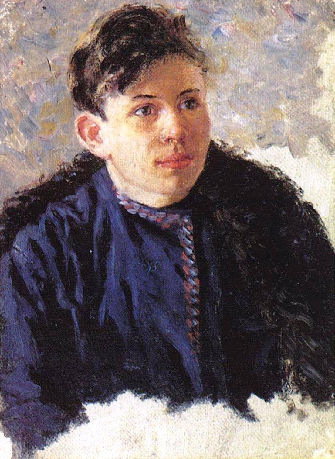 Василий Иванович Суриков – Портрет юноши Леонида Чернышова. 1889-1890.