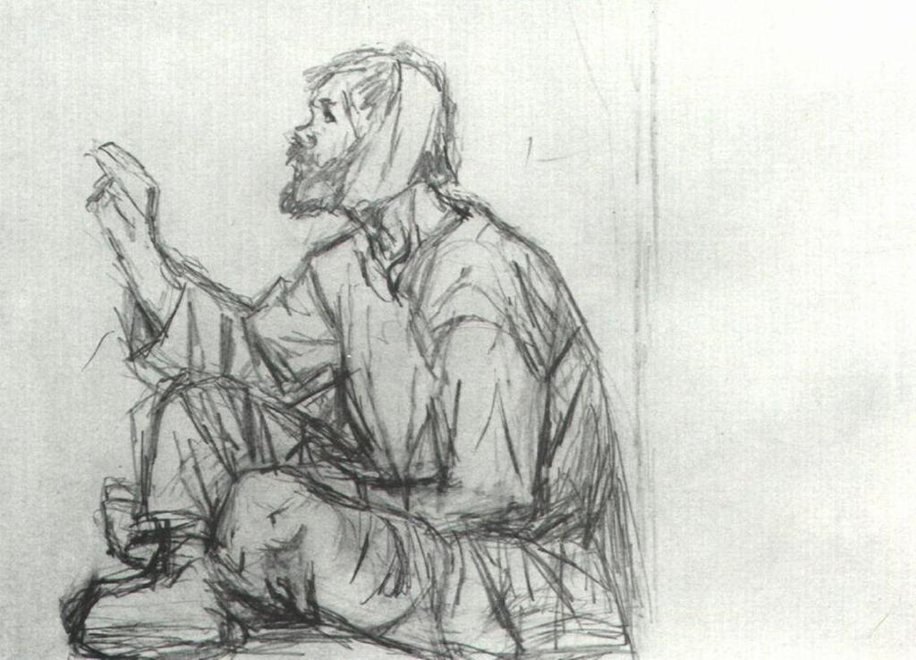 Василий Иванович Суриков – Юродивый, сидящий на земле.