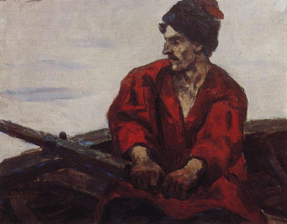 Василий Иванович Суриков – Гребец в лодке. 1912.