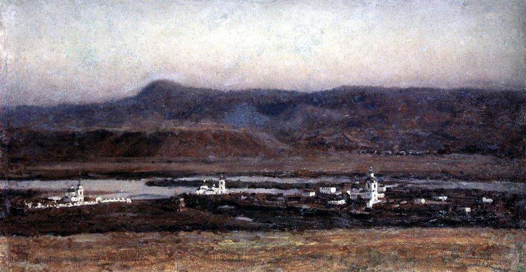 Василий Иванович Суриков – Старый Красноярск. 1914.