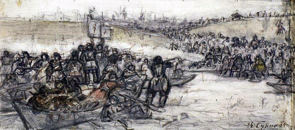Василий Иванович Суриков – Покорение Сибири Ермаком 1