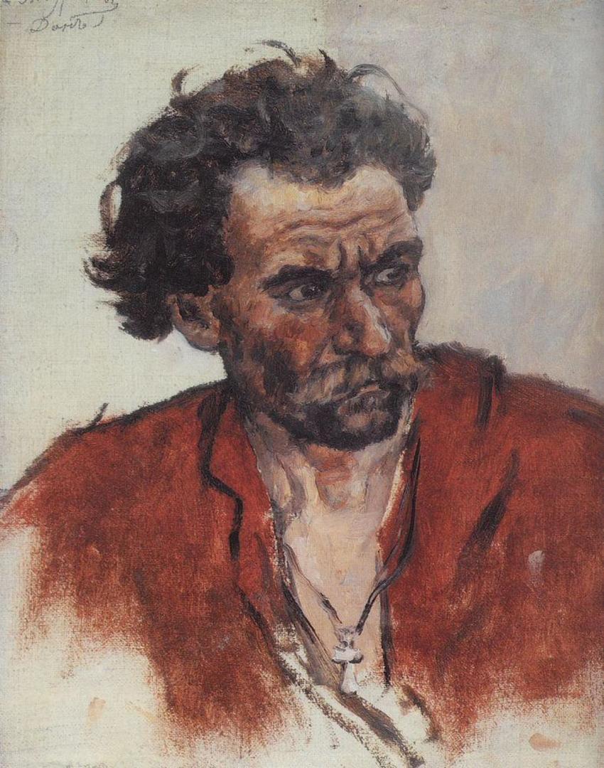 Василий Иванович Суриков – Казак в красной рубахе.