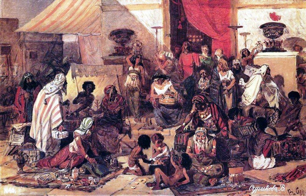 Василий Иванович Суриков – Изгнание Христом торгующих из храма. 1873.