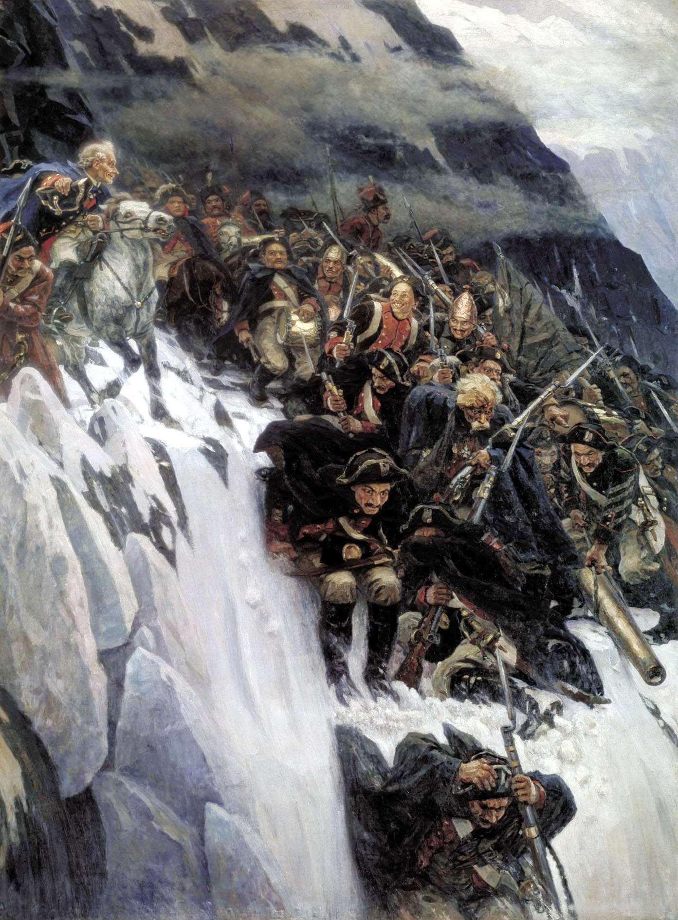 СУРИКОВ Василий - Переход Суворова через Альпы в 1799 году.
