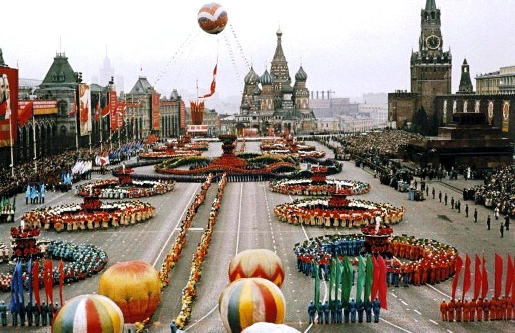 Парад на Красной площади, 1 мая 1959 года.