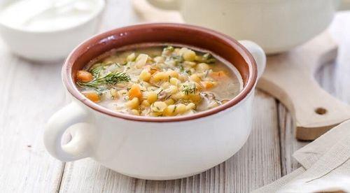 ОБЕД. Диетический гороховый суп.
