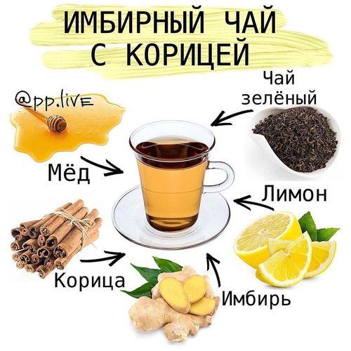 НАПИТКИ. Имбирный чай с корицей.