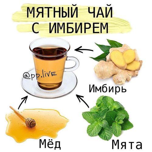НАПИТКИ. Мятный чай с имбирём.