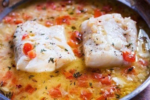 Тушёная рыба по-сицилийски.