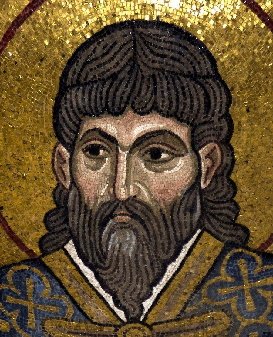 Святой Мученик Евстратий Севастийский. Мозаика монастыря Дафни близ Афин. XI век.